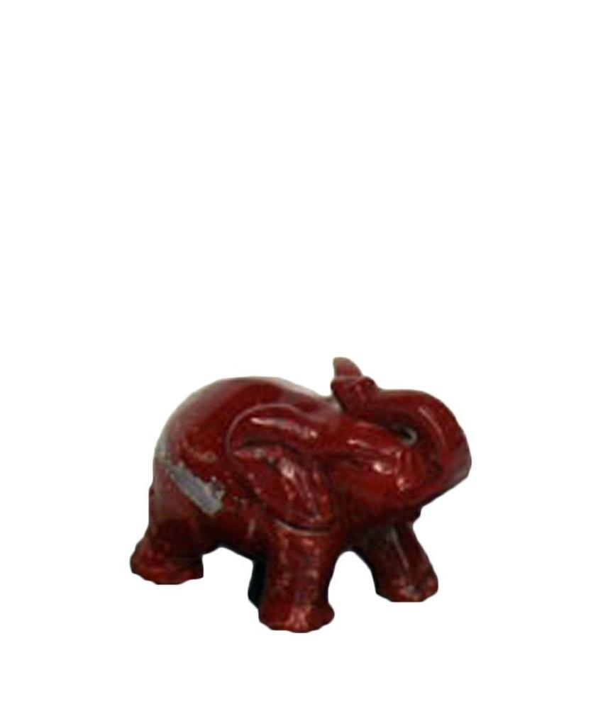 Mini urn olifant - rode jaspis