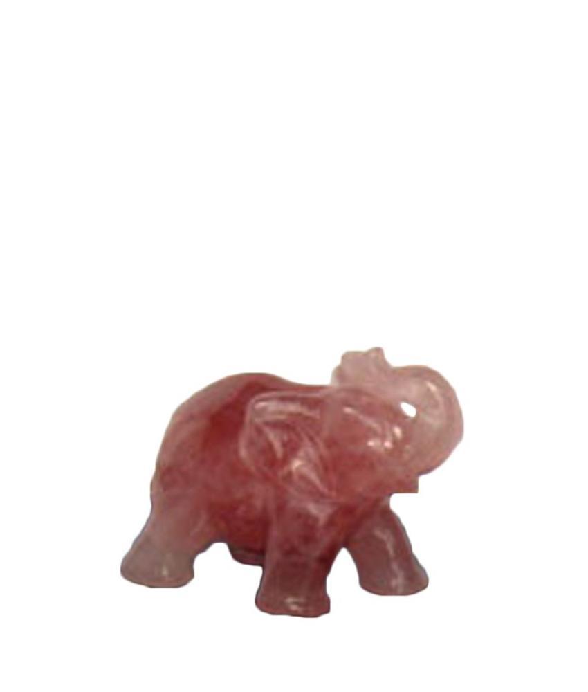 Mini urn olifant - rozenkwarts