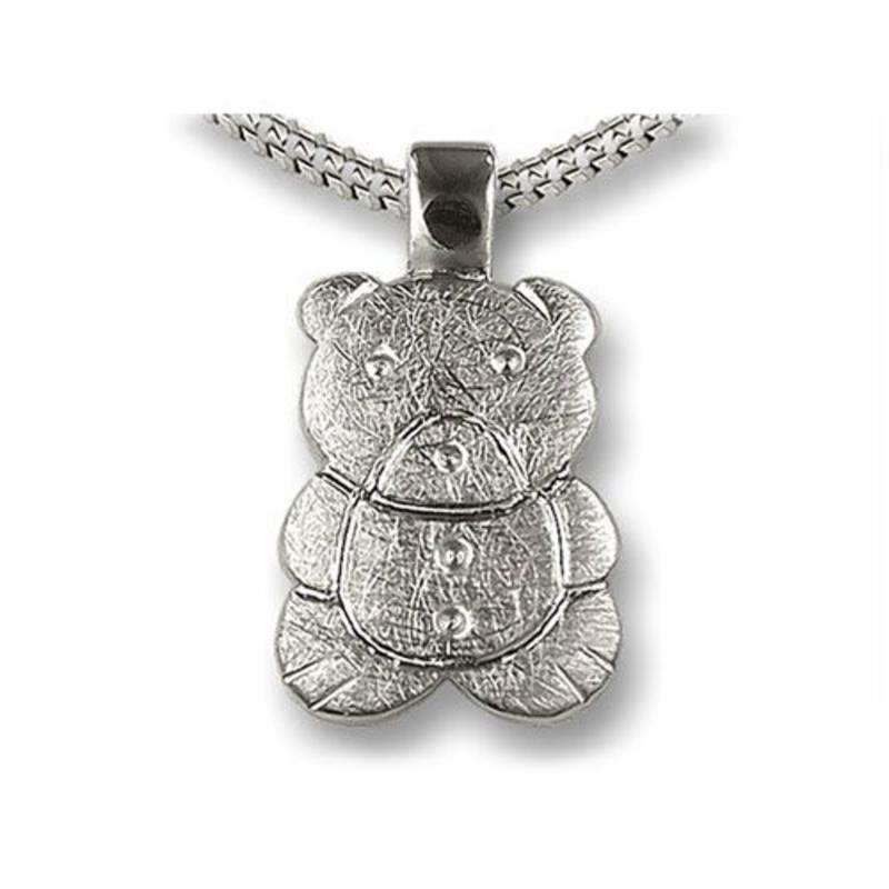 Ashanger beertje - 925 Sterling zilver