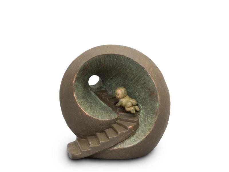 Baby urn oneindige tunnel - keramiek
