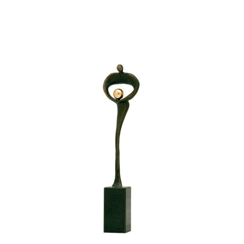 Mini urn asbeeldje dagda - brons
