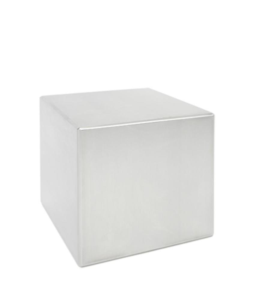 RVS urn mini kubus - RVS