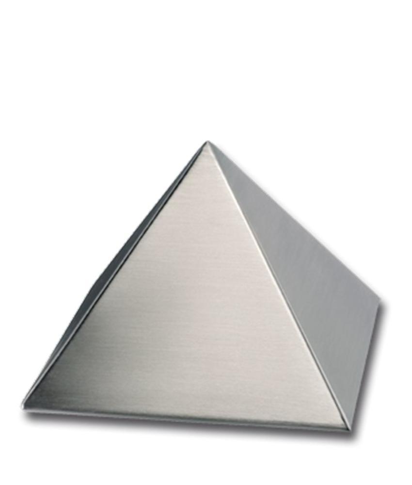 RVS urn pyramide klein - RVS