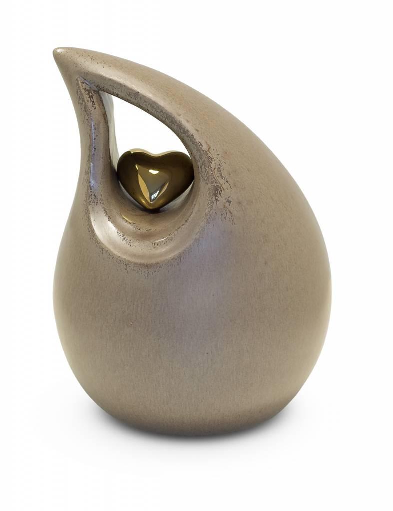 Berusting ecru hart medium - keramiek