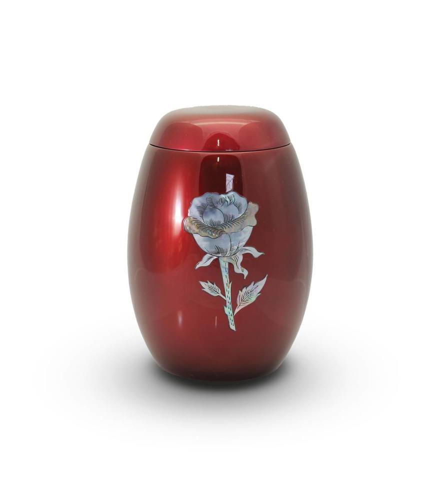 Rode rozen urn - glasfiber