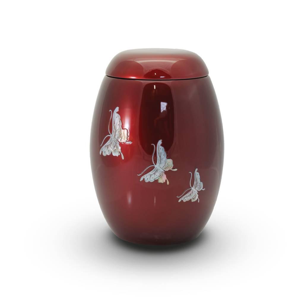 Rode lente vlinders - glasfiber