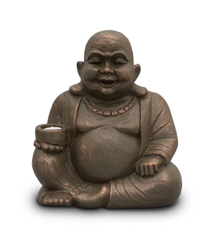 Boeddha urn B met licht - keramiek