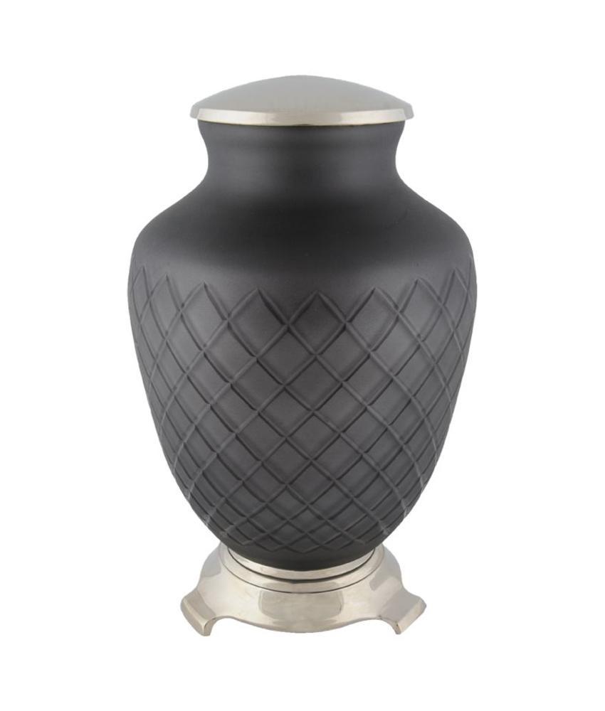 Zwart barok urn - glas