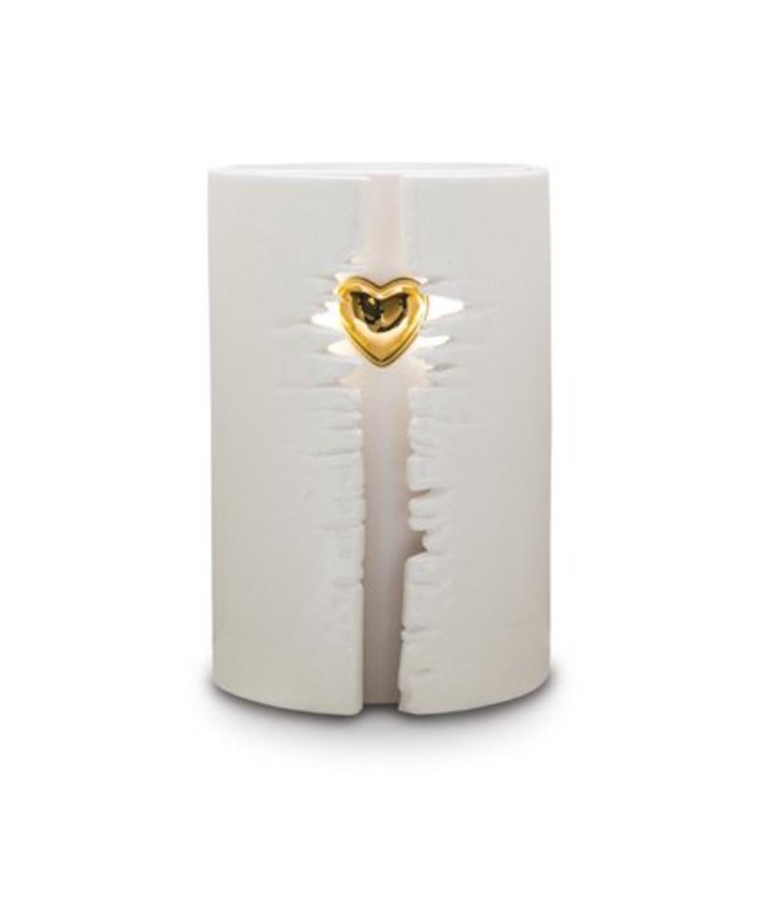 Eos da vita wit - urn met led - keramiek
