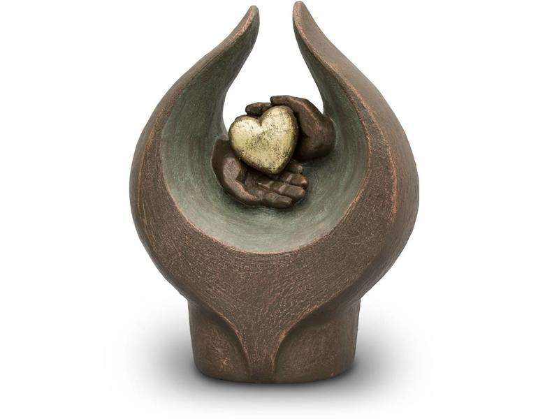 Gevoelens hart urn groot - keramiek