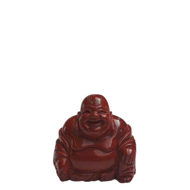 Buddha urn - Rode Jaspis klein