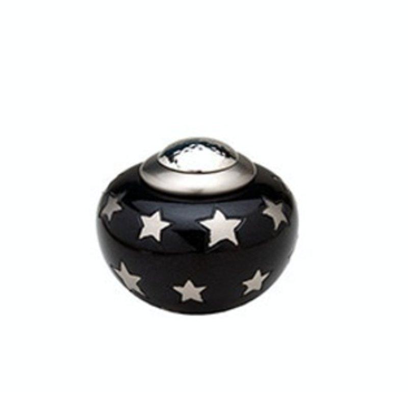 Mini urn candido sterren rond - messing