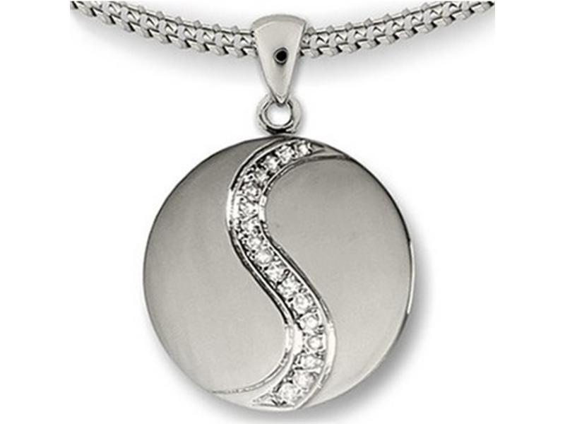 Ashanger yin yang - 925 Sterling zilver met zirkonia