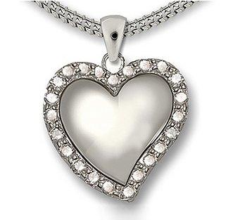 Ashanger diamanten hart - 925 Sterling zilver met zirkonia