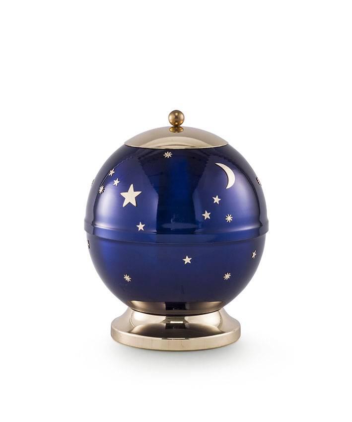 Kinder urn sterrenhemel blauw - messing