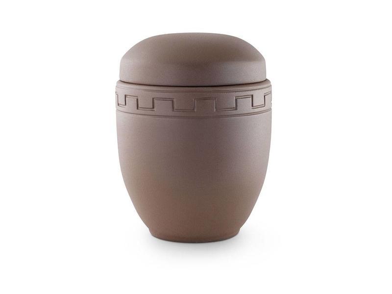 Romeinse urn in matbruin - keramiek