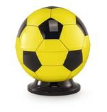 Kinder urn voetbal geel en zwart - messing
