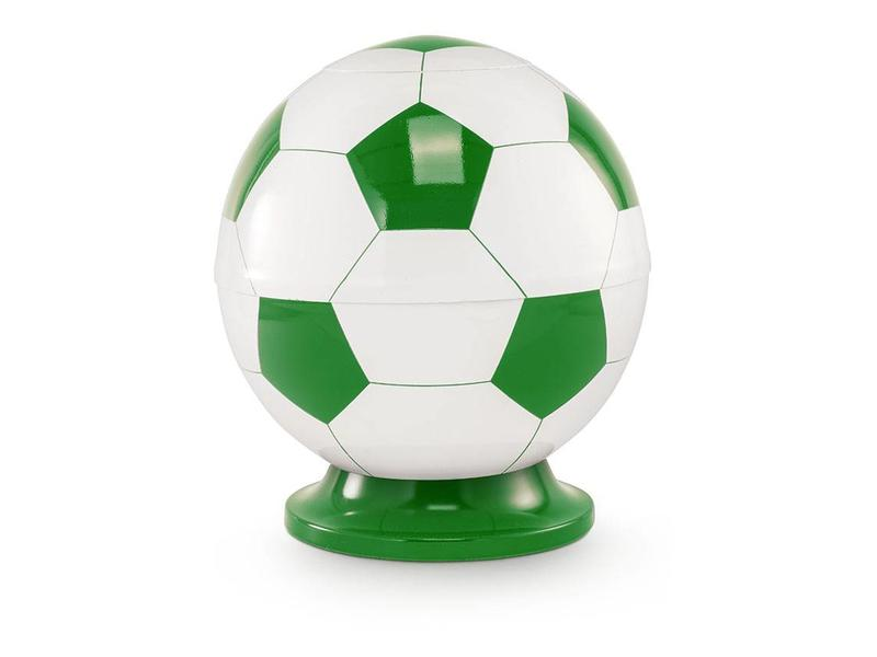 Kinder urn voetbal wit en groen - messing