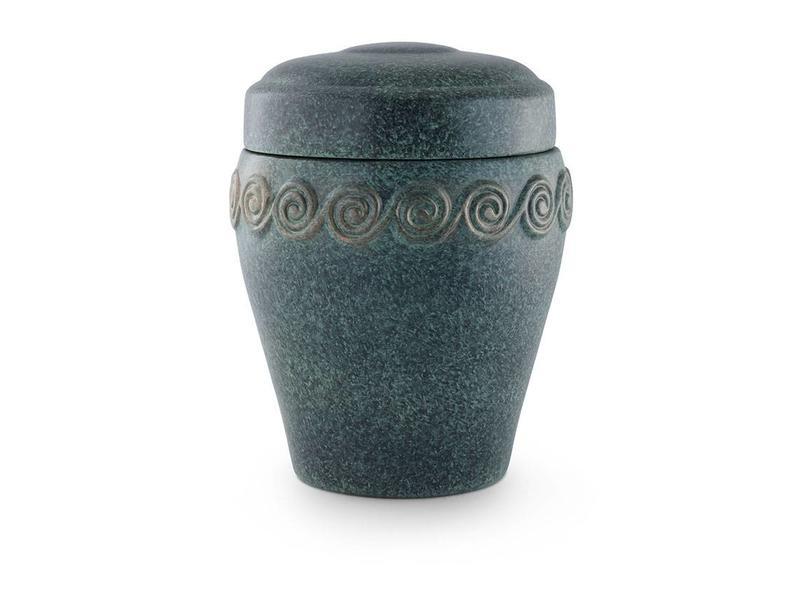 Neo klassiek slakken urn - keramiek