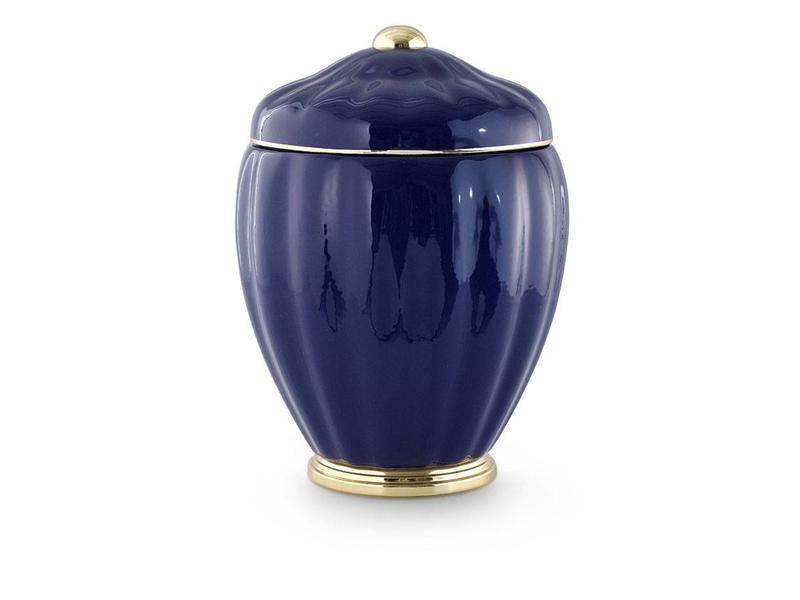 Neo klassiek vaas urn blauw goud - keramiek