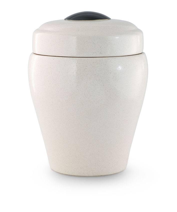 Model vaas urn in wit - keramiek