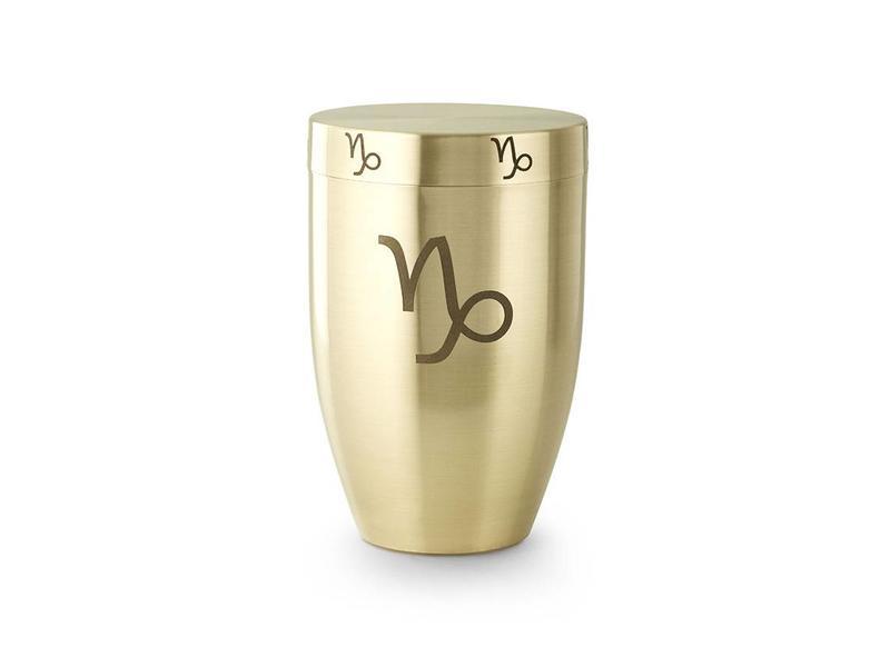 Steenbok urn - messing
