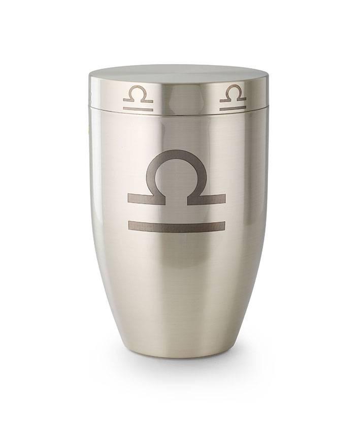 Weegschaal urn - argentaan
