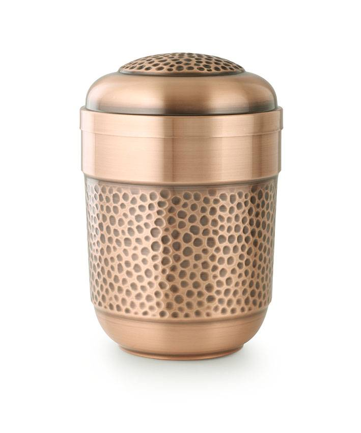 Hamerslag urn - koper