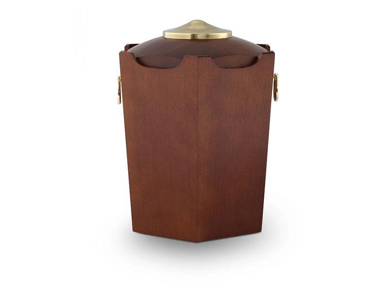 Rustiek urn - hout