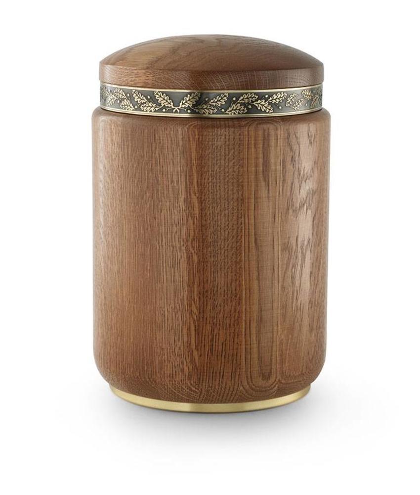 Rustiek met sierreliëf urn - hout