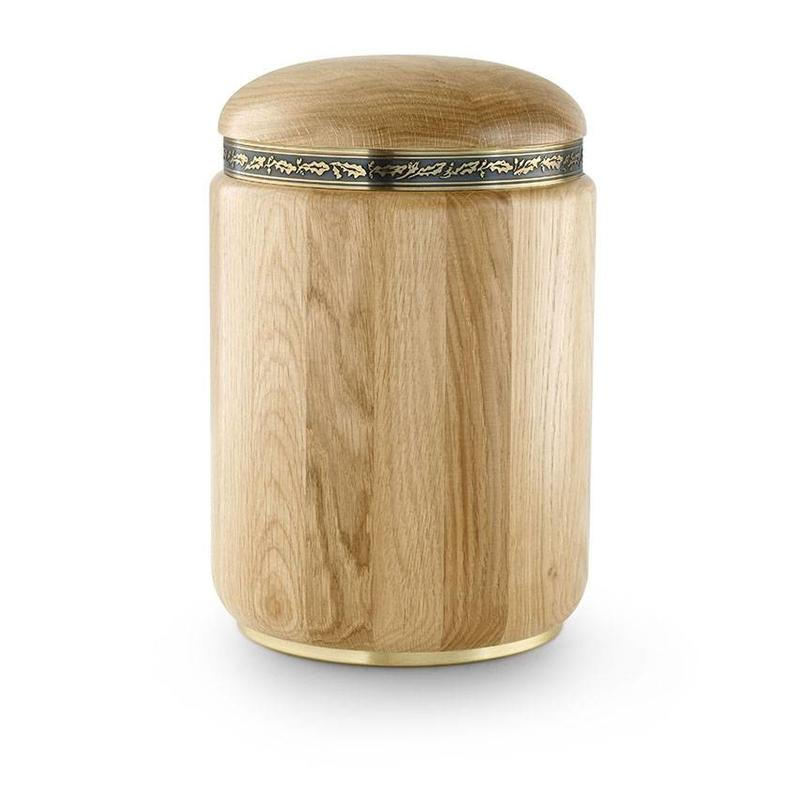 Rustiek naturel urn - hout