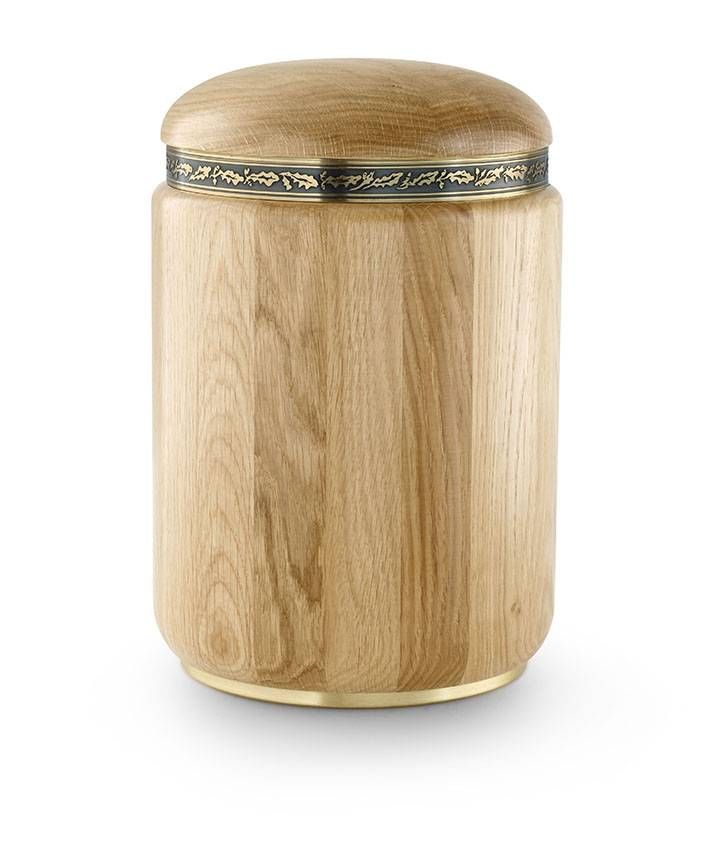 Rustiek naturel urn - hout