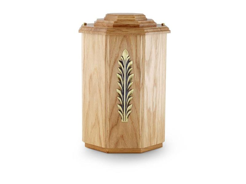 Eiken naturel urn - hout