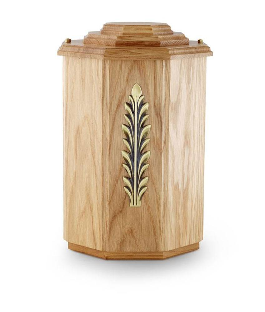 Eiken naturel urn - hout