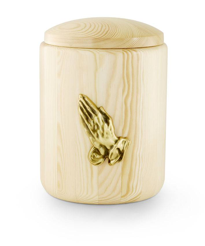 In gebed urn - hout