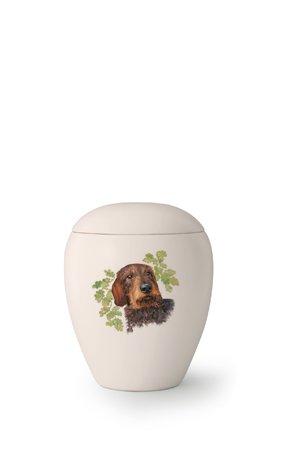 Hondenurn Ruwharige Teckel - keramiek