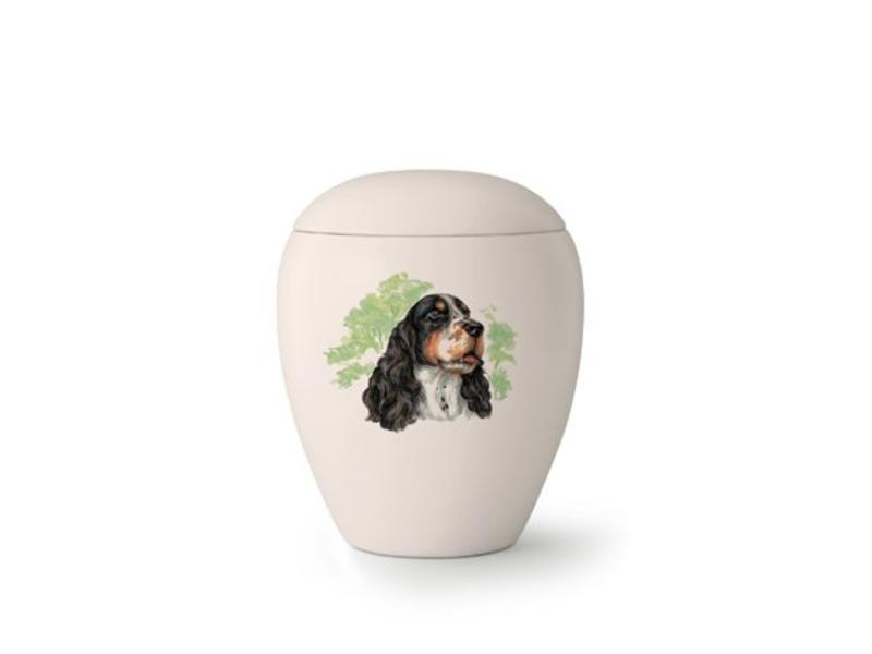 Hondenurn Springer Spaniël - keramiek