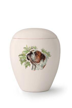 Hondenurn Bulldog - keramiek