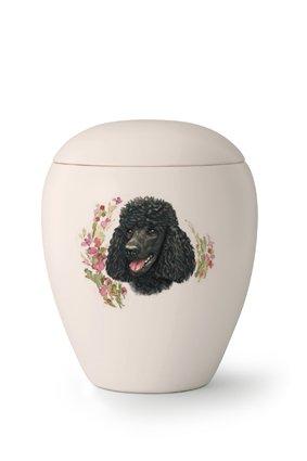Hondenurn Zwarte Poedel - keramiek