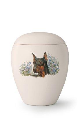 Hondenurn Dobermann II - keramiek