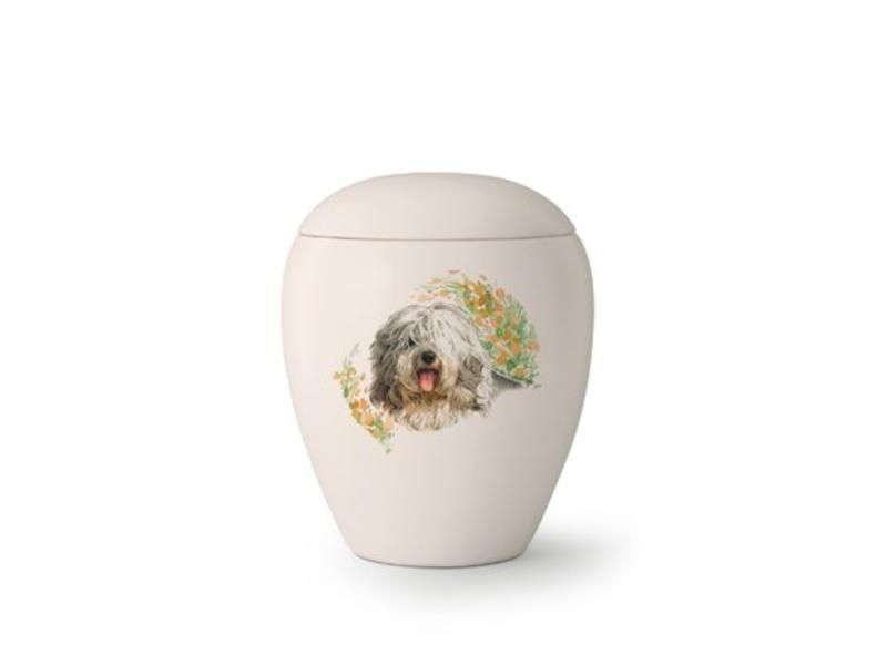 Hondenurn Bobtail - keramiek