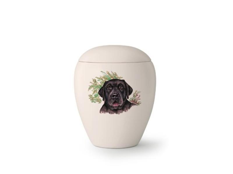 Hondenurn Zwarte Labrador - keramiek