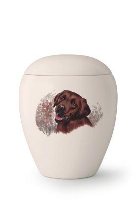 Hondenurn Bruine Labrador - keramiek