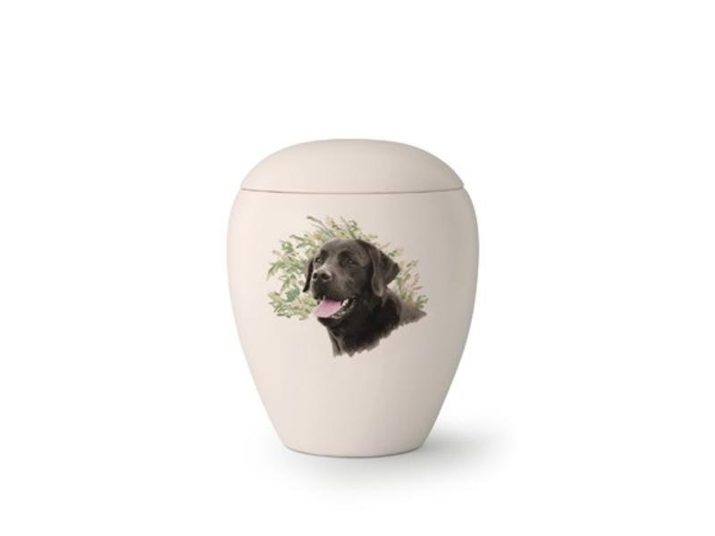 Hondenurn Labrador II - keramiek