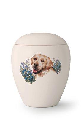 Hondenurn Lichtbruine Labrador - keramiek