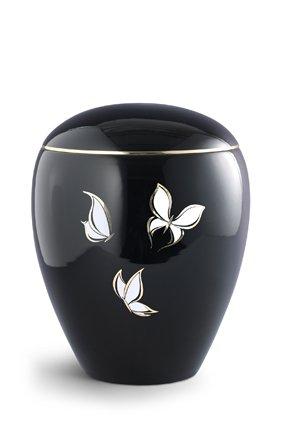 Witte vlinders urn - keramiek