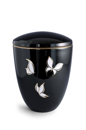 Vlinder schouwspel urn - keramiek
