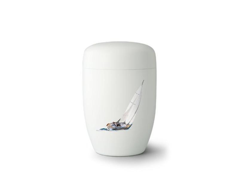 Zeilboot wit - staal