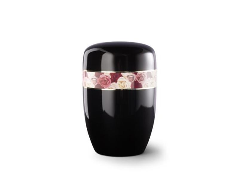 Gekleurde rozen boeket zwart - staal