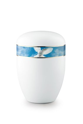 Eco urn wit vredes duif - bio